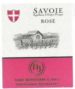 Savoie Rosé - Aimé Bernard & Fils - 2018 - Rosé