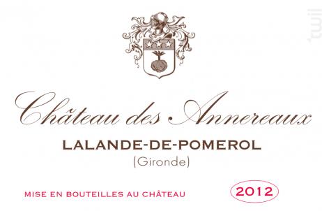 Château des Annereaux - Château des Annereaux - 2012 - Rouge