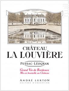 Château La Louvière - Vignobles André Lurton- Château la Louvière - 2015 - Rouge