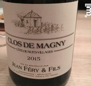 Clos de Magny - Domaine Jean Fery & Fils - 2015 - Rouge