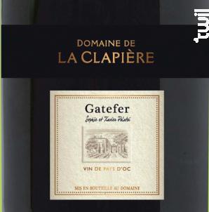 Gatefer - DOMAINE DE LA CLAPIERE - 2016 - Rouge
