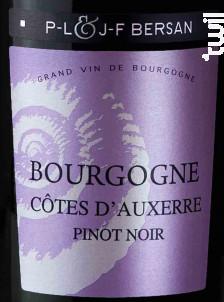 Bourgogne Côtes d'Auxerre - Domaine JF & PL Bersan - 2017 - Rouge