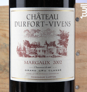 Château Durfort-Vivens - Château Durfort-Vivens - 2002 - Rouge