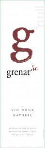 G Grenat Vin Doux - Mas des Caprices - 2017 - Rouge