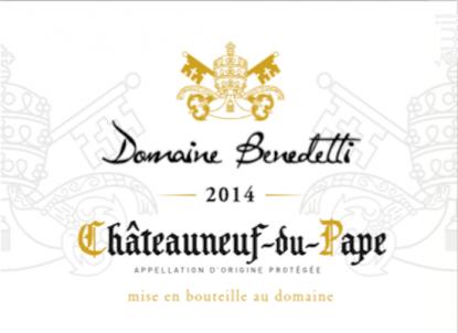 Châteauneuf du Pape - Domaine Benedetti - 2014 - Blanc