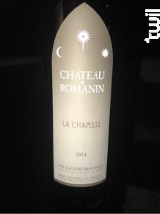 La Chapelle - Château Romanin - 2014 - Rouge