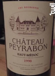 Château Peyrabon - Château Peyrabon - 1999 - Rouge