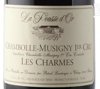 CHAMBOLLE MUSIGNY 1er cru Les Charmes - Domaine de la Pousse d'Or - 2014 - Rouge