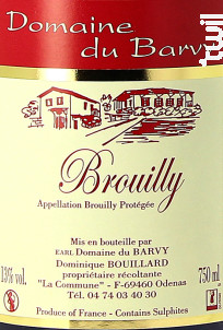 Brouilly - Domaine du Barvy - 2015 - Rouge