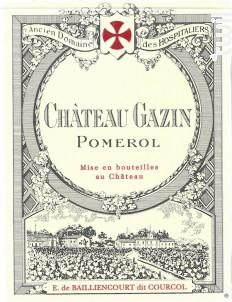 Château Gazin - Château Gazin - 2014 - Rouge