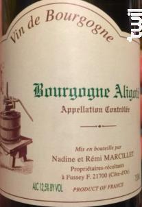 BOURGOGNE ALIGOTE - Nadine et Rémi Marcillet - 2017 - Blanc