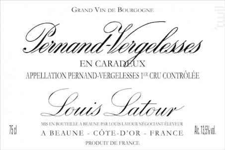 Pernand-Vergelesses 1er Cru En Caradeux - Maison Louis Latour - 2016 - Blanc