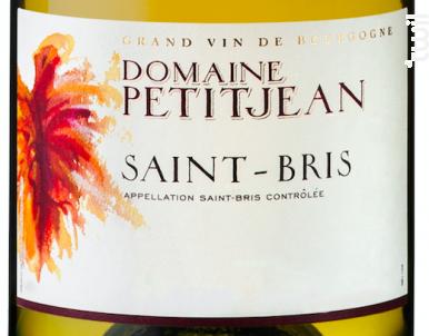 Saint-Bris - Domaine Petitjean - 2018 - Blanc