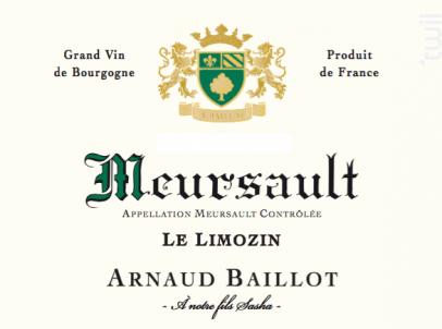 Meursault  Le Limozin - Domaine Arnaud Baillot - 2016 - Blanc
