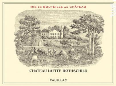 Château Lafite Rothschild - Domaines Barons de Rothschild - Château Lafite Rothschild - 2012 - Rouge