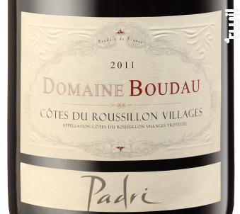 Padri - Domaine BOUDAU - 2018 - Rouge