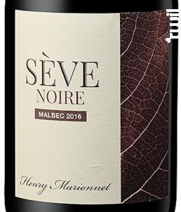 Sève Noire Touraine Malbec - Henry Marionnet - 2016 - Rouge