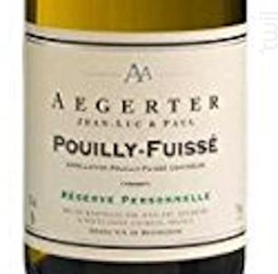 Pouilly-Fuissé - Jean Luc et Paul Aegerter - 2016 - Blanc