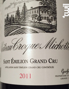 Château Croque Michotte - Château Croque Michotte - 2011 - Rouge