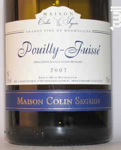 Pouilly-Fuissé Excellence - Maison Colin Seguin - 2018 - Blanc