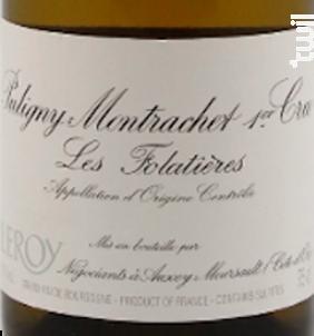 Puligny Montrachet 1er Cru Les Folatières - Domaine Leroy - 2013 - Blanc