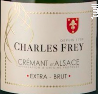 Crémant d'Alsace Extra Brut - Maison Charles Frey - 2017 - Effervescent