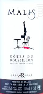 Cuvée Malis - Cave Abbé Rous - 2017 - Rosé