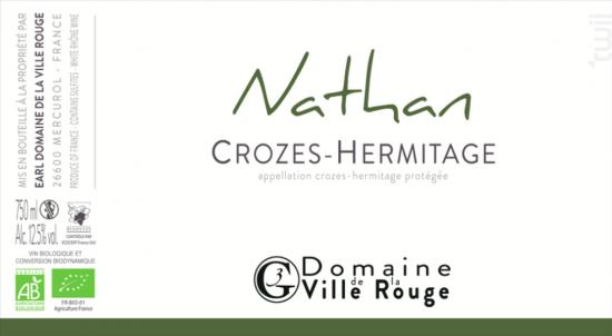 Nathan - Domaine de la Ville Rouge - 2019 - Blanc