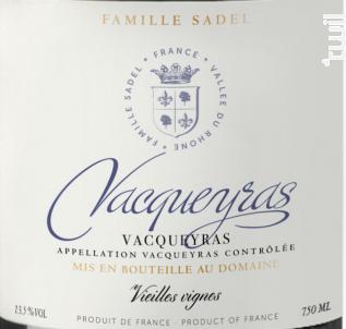 Vacqueyras - Famille Sadel - 2018 - Rouge