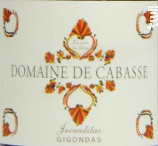 Jucunditas GIGONDAS - Domaine de Cabasse - 2015 - Rouge