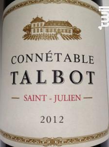 Connétable Talbot - Château Talbot - 2012 - Rouge