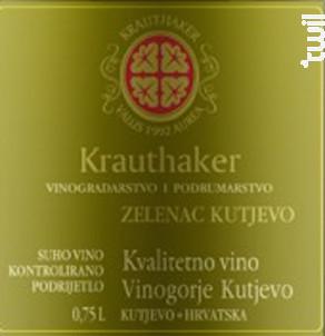 Zelenac Kutjevo - Domaine Krauthaker - 2013 - Blanc