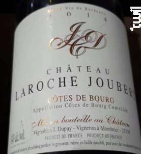 Château Laroche Joubert - Château Laroche Joubert - 2014 - Rouge
