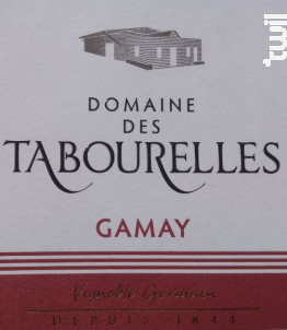 Gamay - Domaine des Tabourelles - 2016 - Rouge