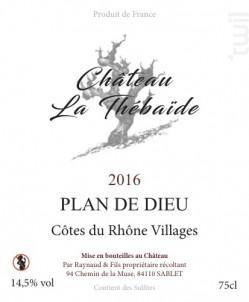 Plan de Dieu - Château La Thébaïde - 2016 - Rouge