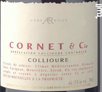 Cornet & Cie- Collioure Rouge - Cave Abbé Rous - 2016 - Rouge