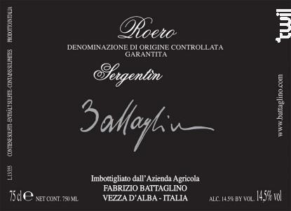 Sergentin Roero - Fabrizio Battaglino - 2011 - Rouge