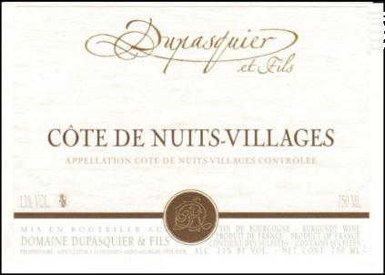 Côte de Nuits Villages - Domaine Dupasquier et Fils - 2018 - Rouge