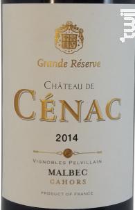 Château de Cénac - Grande Réserve - Vignobles Pelvillain - 2014 - Rouge