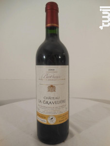 Château La Gravelière - Château la gravelière - 2003 - Rouge