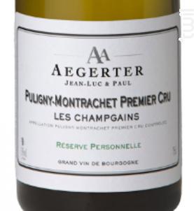 Puligny-Montrachet 1er Cru Les Champgains - Jean Luc et Paul Aegerter - 2013 - Blanc