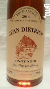 Pinot Noir - La Vie en Rose - Dietrich Jean & Fils - 2018 - Rosé