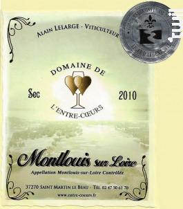 Montlouis Sec 2010 - Domaine de L'Entre-Coeurs - Alain Lelarge - 2010 - Blanc