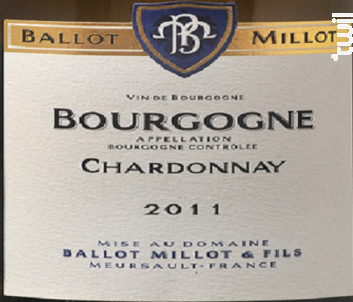 Bourgogne Chardonnay - Domaine Ballot-Millot - 2016 - Blanc