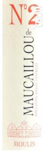 N°2 de Maucaillou - Château Maucaillou - 2014 - Rouge