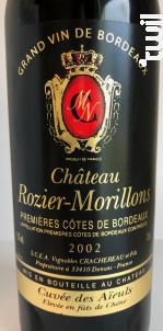 Château ROZIER-MORILLONS - Cuvée des Aïeuls - Vignobles Crachereau - 2002 - Rouge