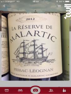 La Réserve de Malartic - Château Malartic-Lagravière - 2017 - Rouge