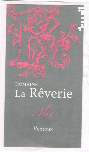 Alix - Domaine de  la Rêverie - 2017 - Rosé