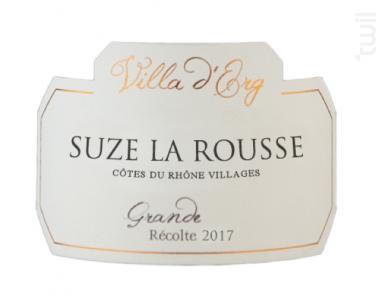 Suze La Rousse - Villa d'Erg - 2017 - Rouge