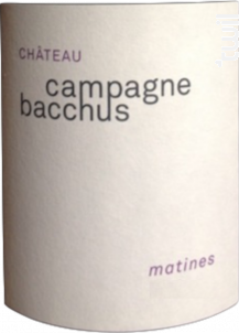 Matines - Château Campagne Bacchus - 2015 - Rouge